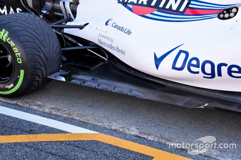 Williams FW40, il pavimento della vettura