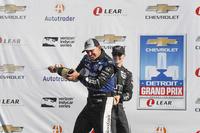 1. Graham Rahal, Rahal Letterman Lanigan Racing, Honda; 3. Will Power, Team Penske, Chevrolet