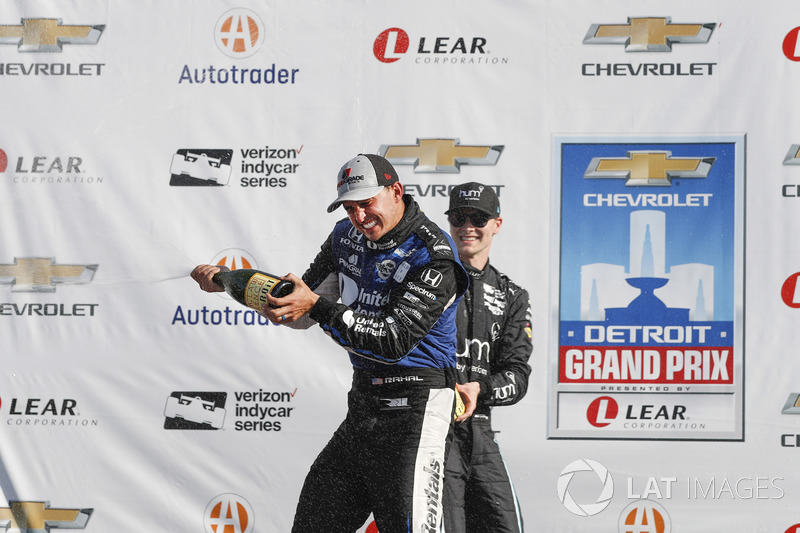 1. Graham Rahal, Rahal Letterman Lanigan Racing, Honda; 3. Will Power, Team Penske, Chevrolet