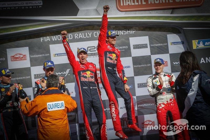 Podio: i vincitori Sébastien Ogier, Julien Ingrassia, Citroën World Rally Team Citroen C3 WRC