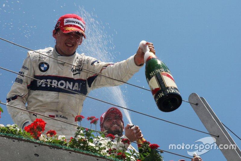 Race winner Robert Kubica, BMW Sauber F1