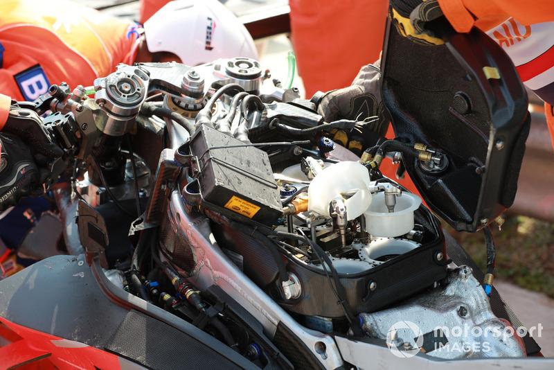 La moto di Jorge Lorenzo, Ducati Team, dopo l'incidente