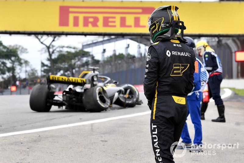 Nico Hulkenberg, Renault Sport F1 Team R.S. 18, kecelakaan