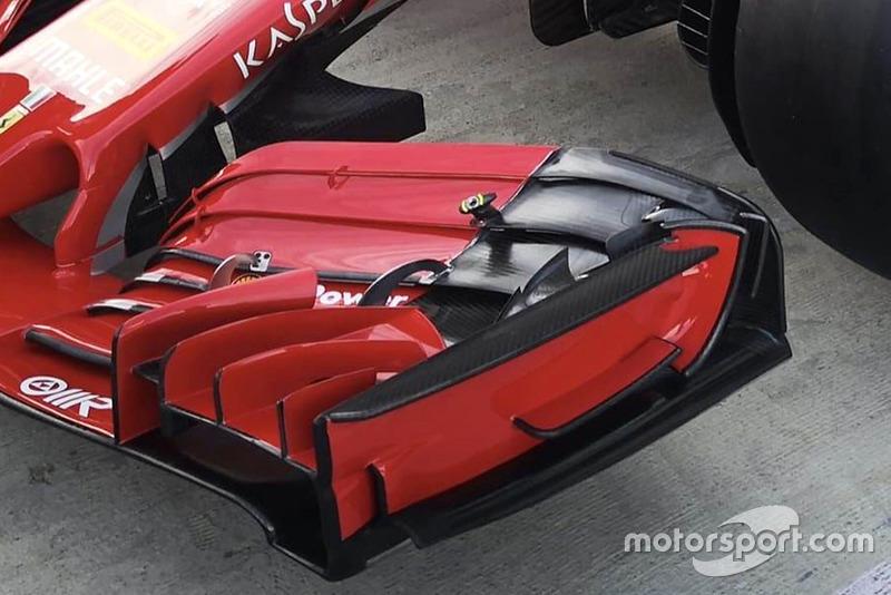 Ferrari SF71H detail front wing