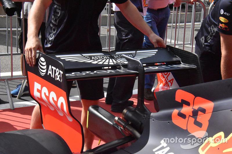 Alerón trasero del Red Bull Racing RB14