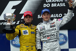 Podium: Giancarlo Fisichella, Jordan and Kimi Raikkonen, McLaren