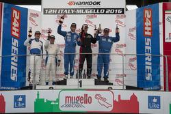 Podium A2: Winner #165 Besaplast Racing Mini Cooper S JCW: Franjo Kovac, Fredrik Lestrup, Henry Littig; second place #169 Barin Ford Fiesta ST: Roberto Barin, Simone Barin