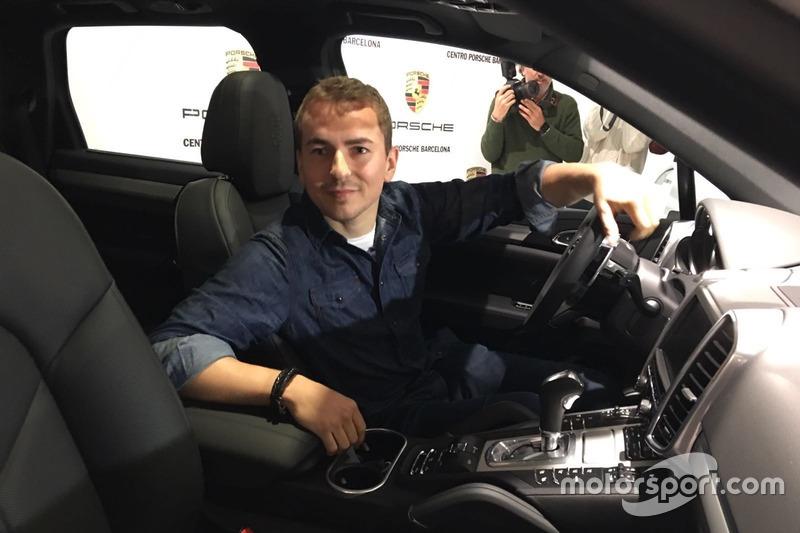 Jorge Lorenzo, en un acto de Porsche