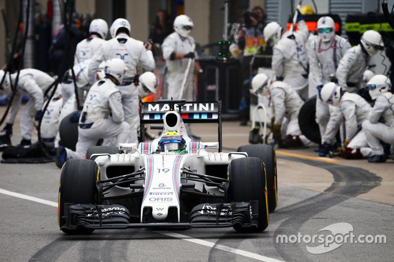 Феліпе Масса, Williams FW38,робить піт-стоп