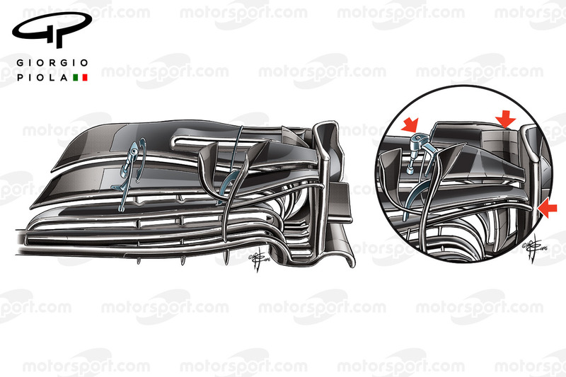 Williams FW38 front wing,  Bahrain GP