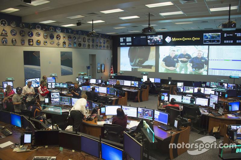 Andrea Iannone, Ducati Team, Dani Pedrosa, Repsol Honda Team visit the NASA Johnson Space Center