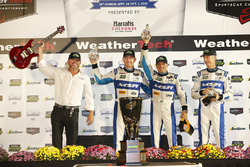 Race winners John Pew, Oswaldo Negri Jr., Olivier Pla, Michael Shank Racing, Michael Shank