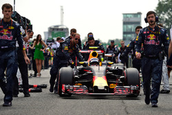 Max Verstappen, Red Bull Racing RB12 on the grid
