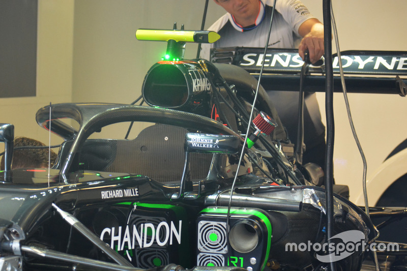 McLaren MP4-31 with the Halo cockpit cover