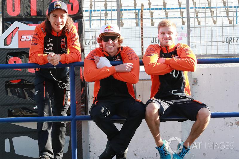 Can Öncü, Darryn Binder and Brad Binder, Red Bull KTM Ajo
