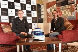 Mika Hakkinen with media