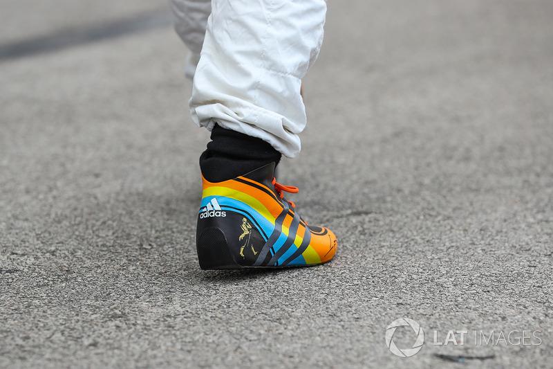 Las botas de carrera de Fernando Alonso, McLaren