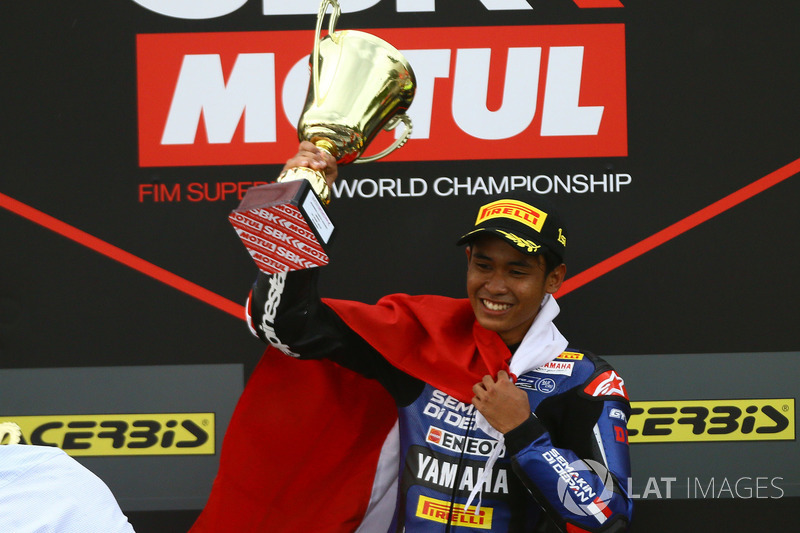 Podium: Galang Hendra, Yamaha MotoX Racing