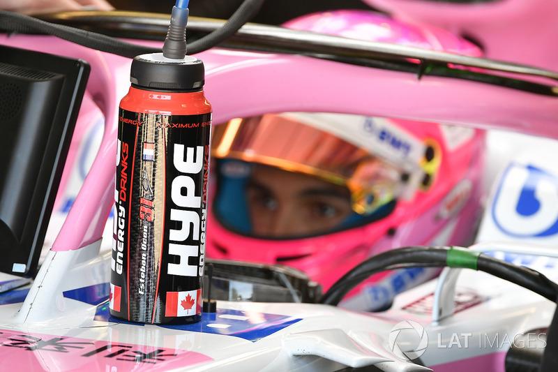 Esteban Ocon, Force India VJM11 drinks bottle