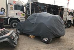 L'auto incidentata #302 X-Raid Team Mini: Nani Roma, Alex Haro