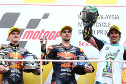 Podium: race winner Miguel Oliveira, Red Bull KTM Ajo, second place Brad Binder, Red Bull KTM Ajo, t