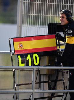Pizarra de Carlos Sainz Jr., Renault Sport F1 Team