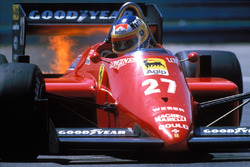 Michele Alboreto, Ferrari on fire