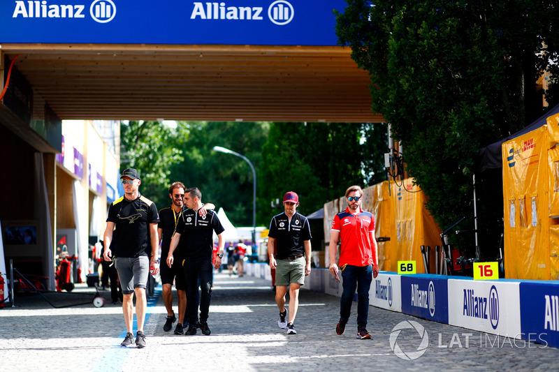 Andre Lotterer, Techeetah, Jean-Eric Vergne, Techeetah, Sébastien Buemi, Renault e.Dams, Nicolas Pro