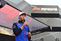 Pierre Gasly, Scuderia Toro Rosso at the Fan Zone