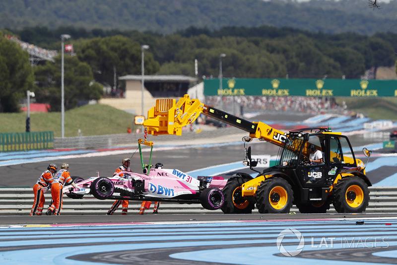 DNF: Esteban Ocon, Force India VJM11