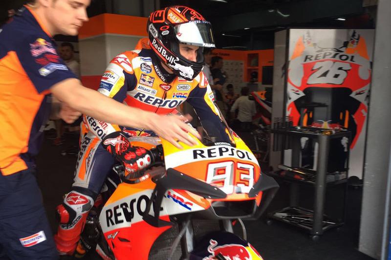 Marc Marquez, Repsol Honda Team con el nuevo carenado