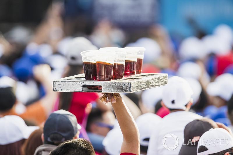Cerveza en las gradas