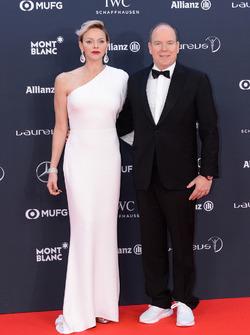 Il Principe Alberto II di Monaco e sua moglie Charlene, Principessa di Monaco