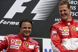 1. Michael Schumacher, Ferrari; 2. Felipe Massa, Ferrari
