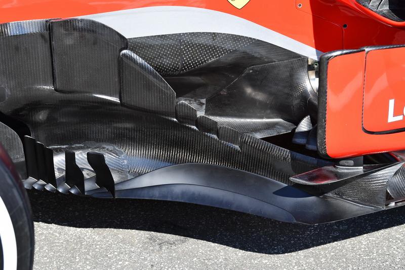 Ferrari SF71H, bargeboard, részlet