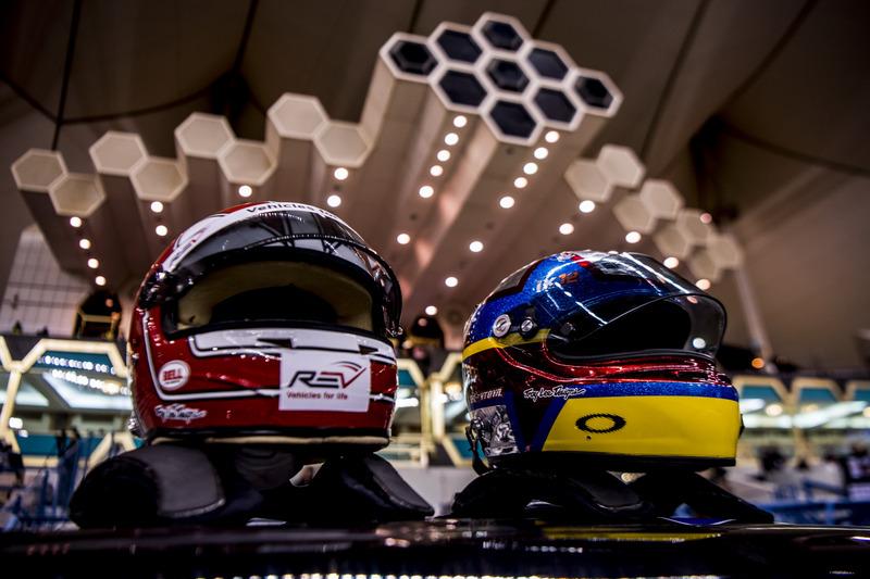 Los cascos del equipo Latinoamérica