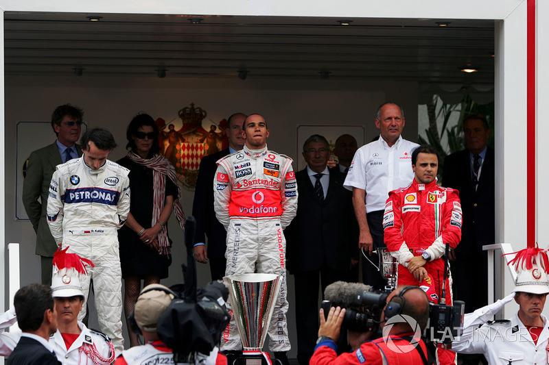 2008: 1. Льюис Хэмилтон, 2. Роберт Кубица, 3. Фелипе Масса