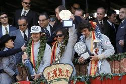 Podyum: Yarış galibi Emerson Fittipaldi, Lotus, 2. François Cevert, Tyrrell, 3. George Follmer, Shadow