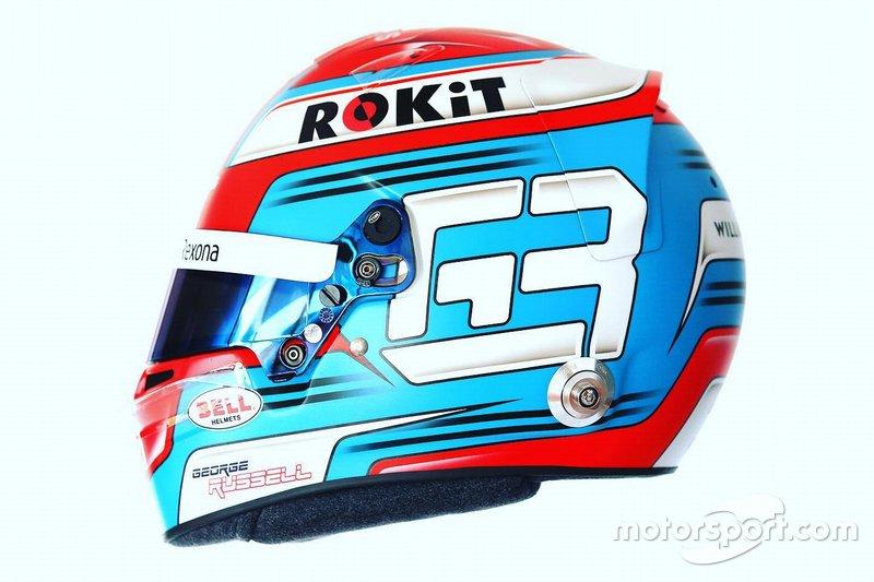 Шлем Джорджа Расселла для дебютного сезона в Ф1