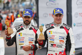 Podium: Esapekka Lappi, Janne Ferm, Toyota Gazoo Racing WRT Toyota Yaris WRC McKlein