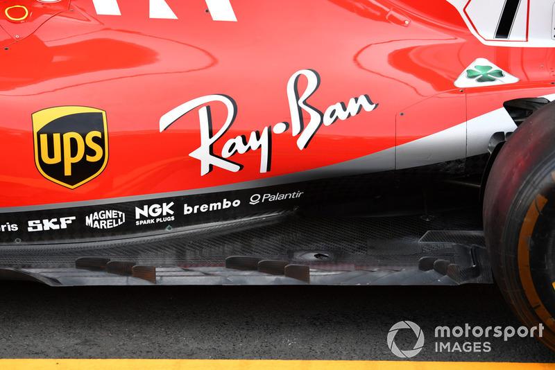 La fila de aletas colocadas en el borde exterior del suelo del Ferrari apareció brevemente en Estados Unidos, pero no la utilizaron en carrera y vuelven a insistir en ello en México