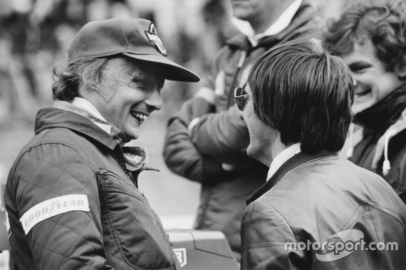 Niki Lauda, Brabham BT46-Alfa Romeo avec Bernie Ecclestone