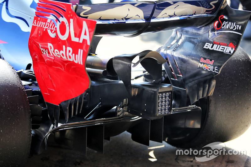 Détails du diffuseur de la Scuderia Toro Rosso STR12