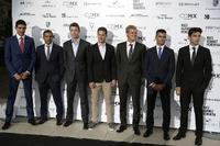Esteban Ocon, Force India F1, Marc Gene, Ferrari, Daniil Kvyat, Scuderia Toro Rosso , Stoffel Vandoorne, McLaren, Marcus Ericsson, Sauber, Pascal Wehrlein, Sauber and Charles Leclerc, Prema Racing
