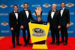 Champion Jimmie Johnson, Hendrick Motorsports Chevrolet and team owner Rick Hendrick, crew chief Chad Knaus, Jeff Gordon