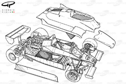 Williams FW08 1982 exploded-detail overview