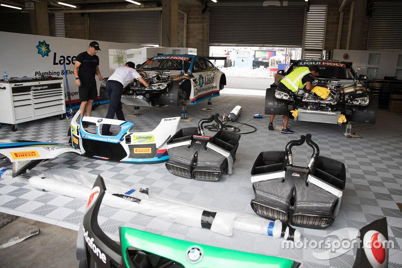 Atmósfera de garaje BMW Team