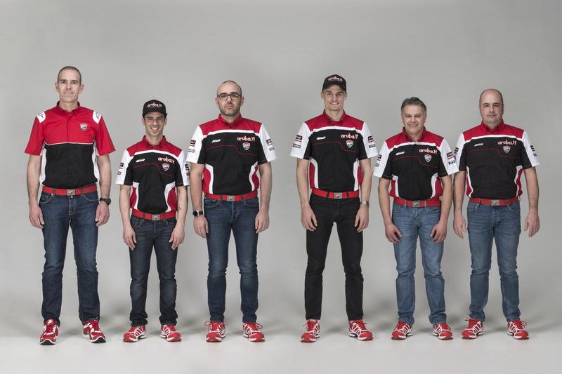 Marco Melandri y Chaz Davies, Ducati Team con el equipo