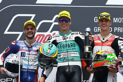 Podium: race winner Joan Mir, Leopard Racing, second place Romano Fenati, Marinelli Rivacold Snipers, third place Marcos Ramírez, Platinum Bay Real Estate
