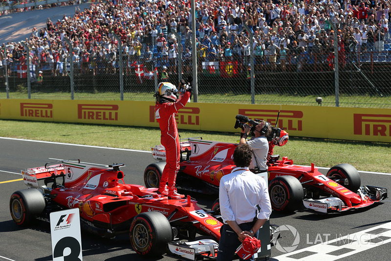 Ganador de la pole Sebastian Vettel, Ferrari